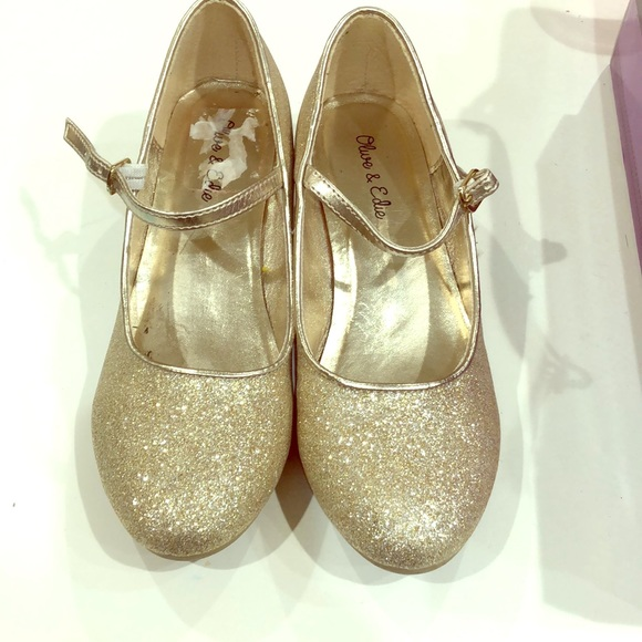 Olive \u0026 Edie Shoes | Girls Gold Sparkly